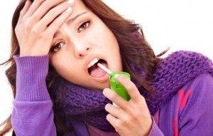фото девушки при заболевании фарингитом
