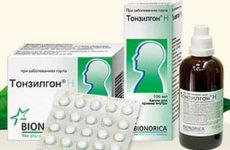 таблетки и капли тонзилгон н