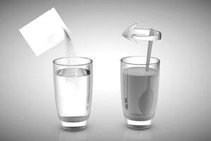 порошок в стакан
