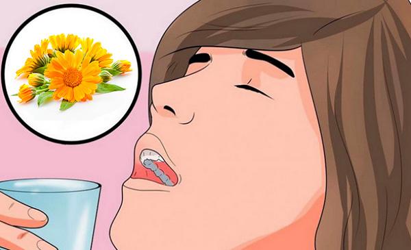 полоскание горла календулой